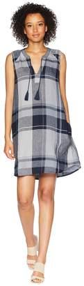 Mod-o-doc Linen Plaid Pullover Swingy Tank Dress Women's Dress