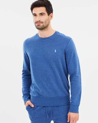 at THE ICONIC Polo Ralph Lauren Double Knit Jersey Crew Neck Sweater