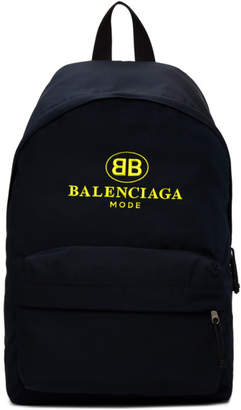 Balenciaga Navy BB Explorer Backpack