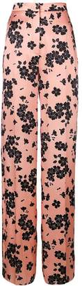 Rochas floral print high waisted trousers