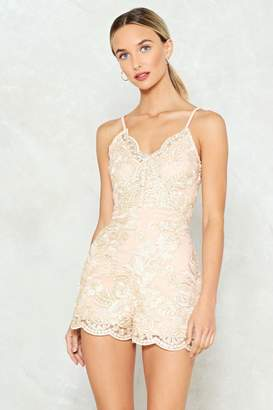 Nasty Gal Heaven is a Place on Earth Lace Romper