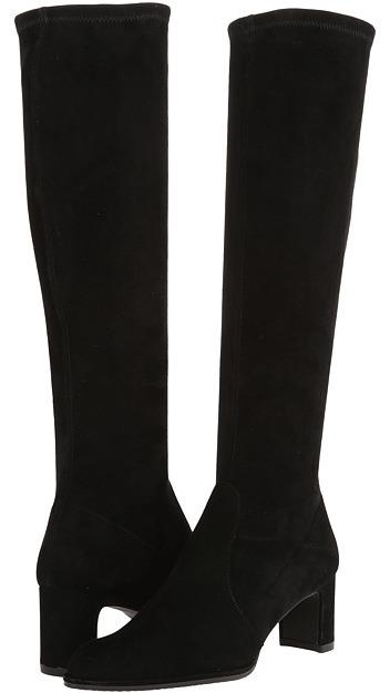 Stuart Weitzman Chicboot (Black Suede) - Footwear