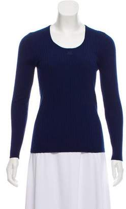 Courreges Ribbed Knit Top