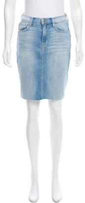 L'Agence Distressed Denim Skirt w/ Tags