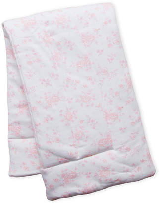 Little Me Newborn/Infant Girls) Floral & Stripe Print Blanket
