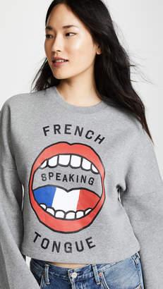Etre Cecile French Tongue Crop Sweatshirt