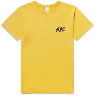 A.P.C. Logo-Print Cotton-Jersey T-Shirt