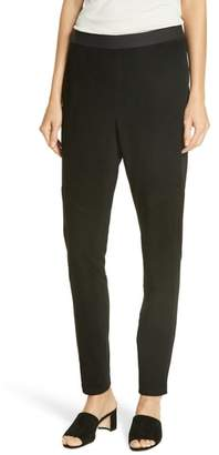Eileen Fisher Suede Front Leggings