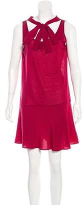 Miu Miu Bow-Accented Mini Dress