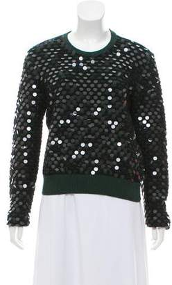 Cédric Charlier Sequin Embellished Wool Sweater