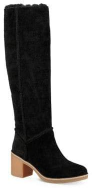 UGG Kasen Sheepskin Fur Tall Leather Boots