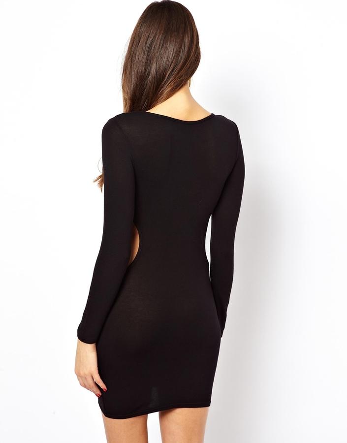 Club L Bodycon Dress with Cut-Out Waist
