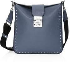 MCM Medium Kasion Stud Leather Crossbody Bag
