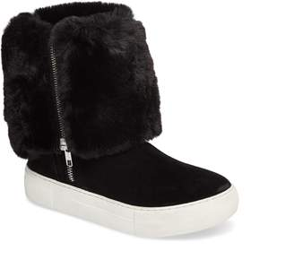 J/Slides Apple Faux Shearling Boot