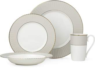 Lenox Pleated Colours Bone China Four-Piece Dinnerware Set