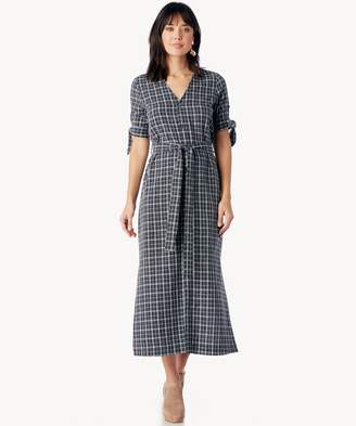 Sole Society Long Shirt Dress With Waist Tie
