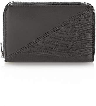 Alexander Wang Dime Mini Compact Wallet In Black Mixed Patchwork