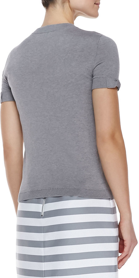 Kate Spade Somerset Short Sleeve Sweater, Casino Gray