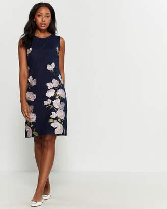Karl Lagerfeld Paris Sleeveless Embroidered Floral Dress