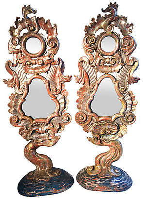 One Kings Lane Vintage 19th-C. Italian Hand-Carved Mirrors - Set of 2 - Antiques on Jackson