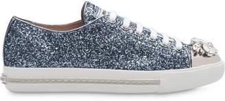 Miu Miu jewelled glitter sneakers
