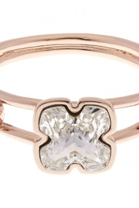 Karen Millen Jewellery Ladies Rose Gold Plated Art Glass Flower Ring Size SM KMJ925-24-02SM