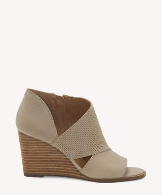 Lucky Brand Women's Jedrek Wedges Bootie Chinchilla Size 5 Leather From Sole Society