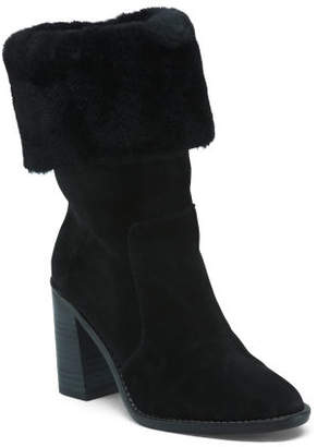 Cuff Down Block Heel Boot