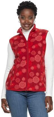 Croft & Barrow Women's Mockneck Fleece Vest