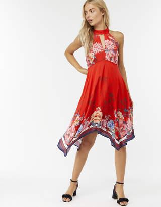 Monsoon Jasmine Print Hanky Hem Dress