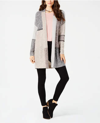 Style&Co. Style & Co Colorblocked Open-Front Cardigan, Created for Macy's