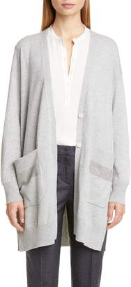 Fabiana Filippi Studded Pocket Wool, Silk & Cashmere Cardigan