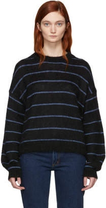 Acne Studios Black and Blue Kassidy Striped Sweater
