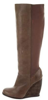 Seychelles Leather Wedge Boots