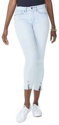 NYDJ Ami Slit-Hem Ankle Skinny Jeans in Palm Desert
