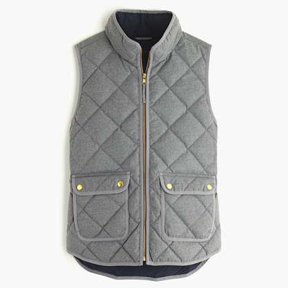J.CrewPetite excursion quilted vest in flannel