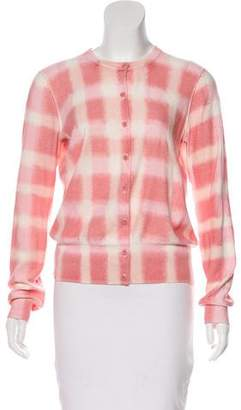 Marc by Marc Jacobs Gingham Scoop Neck Cardigan