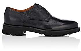 Doucal's Men's Grained Leather Bluchers - Black