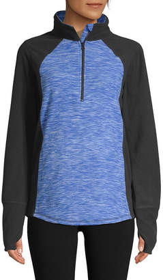 ST. JOHN'S BAY SJB ACTIVE Active 1/4 Zip Fleece Pullover