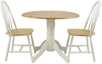5608921e00 Argos Home Kentucky Drop Leaf Table and 2 Chairs