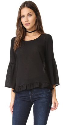 Ella Moss Nete Bell Sleeve Blouse $138 thestylecure.com