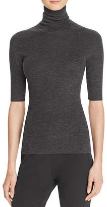 Theory Leenda B Merino Wool Turtleneck Top $190 thestylecure.com