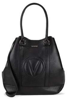 Faith Embossed-Logo Leather Hobo Bag