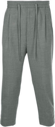Monkey Time Cropped Drop Crotch Trousers