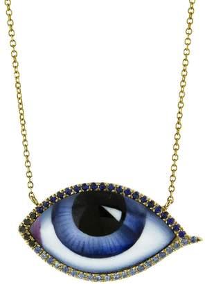 Lito Fine Jewelry Grand Bleu Enamel, Diamond and Sapphire Necklace - Yellow Gold