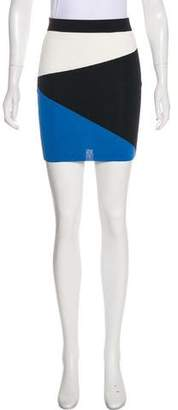 Torn By Ronny Kobo Colorblock Mini Skirt
