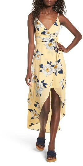 Women's J.o.a. Floral Faux Wrap Slipdress