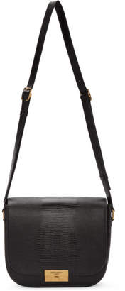 Saint Laurent Black Lizard Betty Messenger Bag