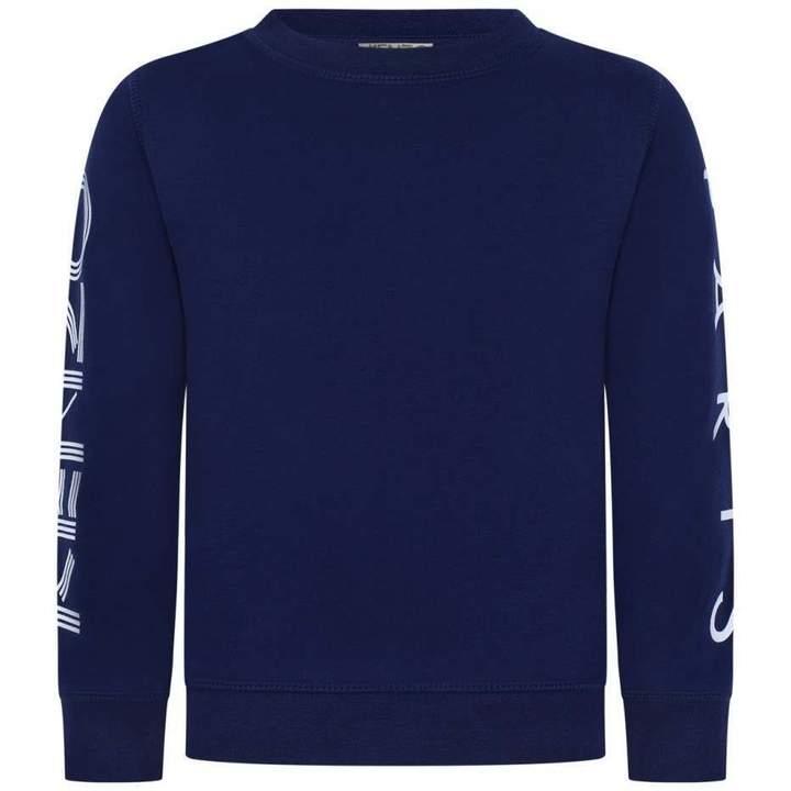 KidsBoys Navy Logo Print Sweater