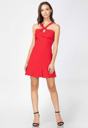 Adelyn Rae Cailin Textured Stripe Dress